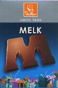 De Heer Milk Chocolate Letter Small  M 65g