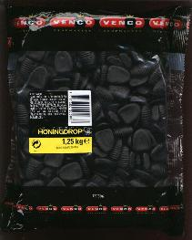 Venco Honingdrop 1.25 Kilo Bag  Honey Licorice