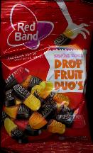 Red Band Drop Fruit Duo's --  155g