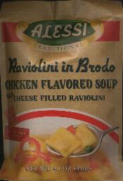 Alessi Raviolini in Brodo Chicken Flavored Soup 116g