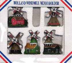Holland Windmill Magnets - Set of 5