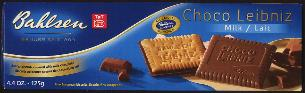Bahlsen Choco Leibniz -- Milk Fine European Biscuits 125g