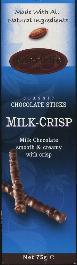Baronie Milk Crisp Classic Chocolate Sticks -- 75g