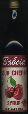 Babcia Sour Cherry Syrup -- Juice concentrate 1 liter