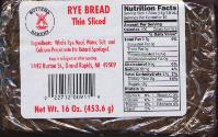 Bottema Roggebrood Rye Bread - thin sliced 16oz. (USA)