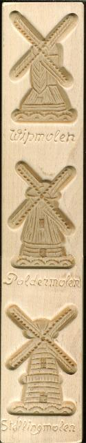 Cookie Mold with 3 Windmills Light