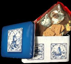 Collectable Dutch Tin with De Ruiter Speculaas Cookies