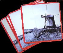 Memories Mill Drink Coaster -- Set of 6