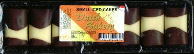 Dutch Bakery Mergpijpjes 264g Small iced cakes