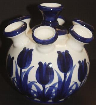 Delft Blue Tulip Vase With Blue Tulip Design