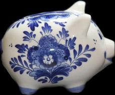 Piggy Bank Delfts Blue