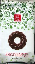 De Heer Puur Chocolade Kransjes -- Dark Chocolate Wreaths 175g