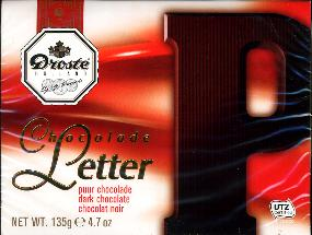 Droste Chocolade Letter Groot Puur P