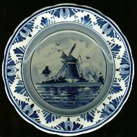 DeWit Delft Plate with Windmill - 7.5in