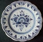 DeWit Delft Plate with flowers - Delft Holland -- Handpainted