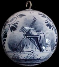DeWit Delft Ornament Ball Windmill.