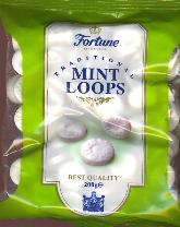 Fortuin Fortune Mint Loops -- 220g -- Hard Candy
