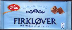 Freia Firklover - Milk Chocolate with Hazelnuts. 100g Made in No