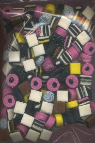 Licorice Allsorts - English Drop - Engelse Drop 1 Kilo