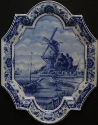 Delft Wall Hanging 35cm tall with holes to hang 13.5 X 10.5 inch