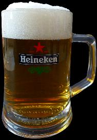 Heineken Beer Stein 6 inches tall .5 liter