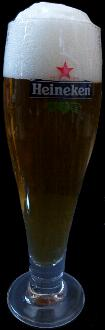 Heineken Pilsner Glass Footed Crystal -- 0.25L
