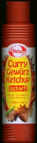 Hela Curry Gew�rz Ketchup Scharf --Spicey Curry Ketchup Hot
