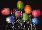 Tulip Keychain 1 each assorted colors