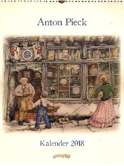 2018  Anton Pieck Kalender -- Calendar measures 13 X 17 inches