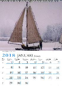 2018 Holland Kalender   Measures 11 X 15 inches Calendar