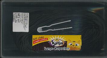 Katja Lange Dropveters Long Licorice Laces Tub 200 pieces 1200g