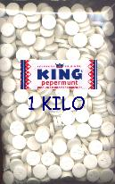 King Peppermints bulk 1 Kilo Bag 2.2lbs.