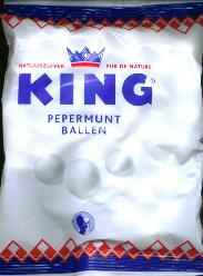 King Pepermuntballen --Peppermint balls 250g