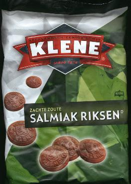 Klene Salmiak Riksen Drop -- Soft Salty Licorice 1.25kilo
