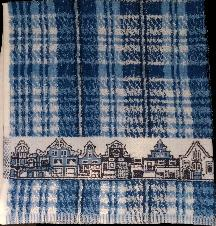 Kitchen Towel -- Blue and White Canal Houses 50X50cm