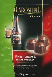 Laroshell Chocolates with Liquer Cream and Irish Whiskey Filling
