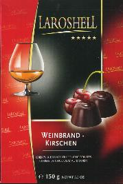 Laroshell Cherry and Brandy Filled Chocolates -- 150g