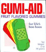 Gumi-Aid Fruit Flavored Gummies for life's boo boo's