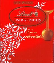 Lindt Lindor Milk Chocolate Truffle Case of 120