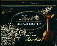 Lindt Lindor Extra Dark Chocolate Truffle 60% Case of 120