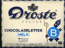 Droste Milk Chocolate Letter Large  B