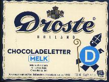 Droste Milk Chocolate Letter Large  D