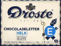 Droste Milk Chocolate Letter Large  E