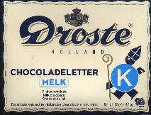 Droste Milk Chocolate Letter Large  K