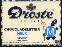 Droste Milk Chocolate Letter Large  M