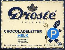 Droste Milk Chocolate Letter Large  P