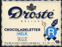 Droste Milk Chocolate Letter Large  R