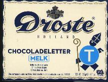 Droste Milk Chocolate Letter Large  T