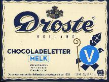 Droste Milk Chocolate Letter Large  V