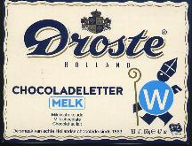 Droste Milk Chocolate Letter Large  W